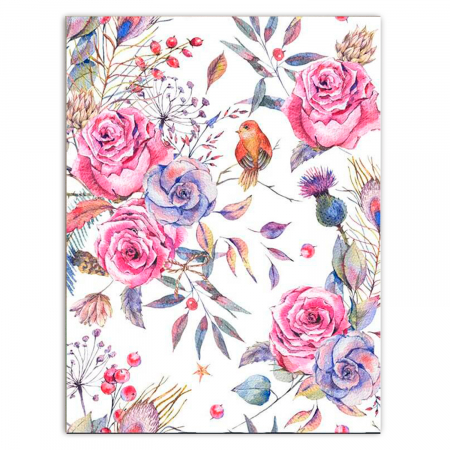 Set pictura pe numere, cu sasiu, Flori delicate, 30x40 cm0