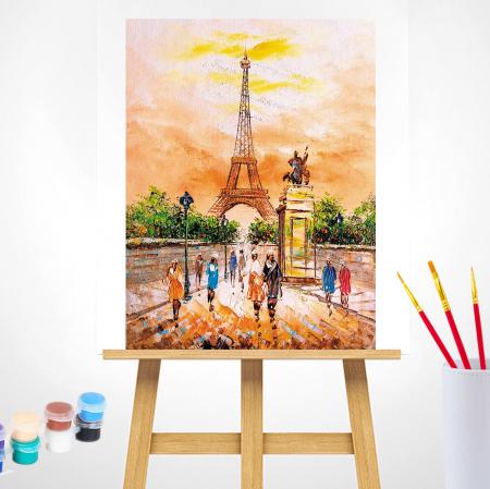 Set pictura pe numere, cu sasiu, Turnul Eiffel 40x50 cm [1]