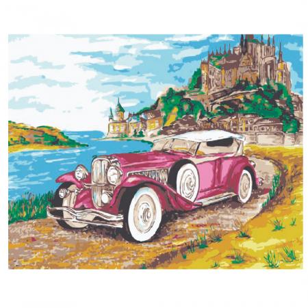 Set pictura pe numere, cu sasiu, Cadillac, 30x40 cm0