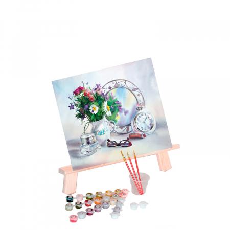 Set pictura pe numere, cu sasiu, Flori 2, 40x50 cm0