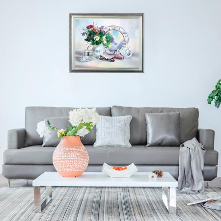 Set pictura pe numere, cu sasiu, Flori 2, 40x50 cm2