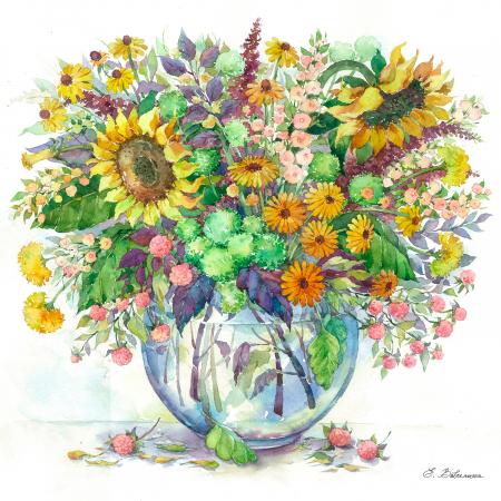 Set pictura pe numere, cu sasiu, Flori de camp, 40x50 cm0