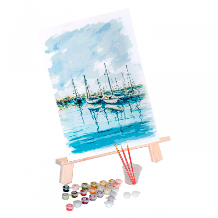 Set pictura pe numere, cu sasiu, Peisaj Maritim [1]