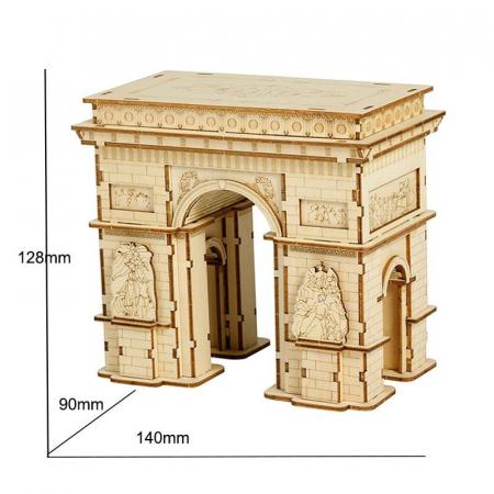 Puzzle 3D Arcul de Triumf, Lemn, 118 piese [1]