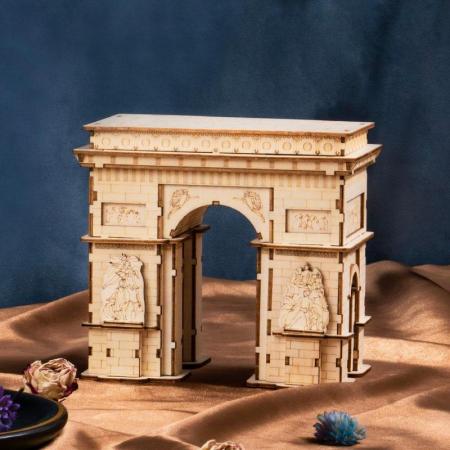 Puzzle 3D Arcul de Triumf, Lemn, 118 piese [4]