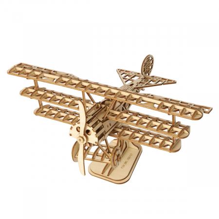 Puzzle 3D Avion, Lemn, 145 piese0
