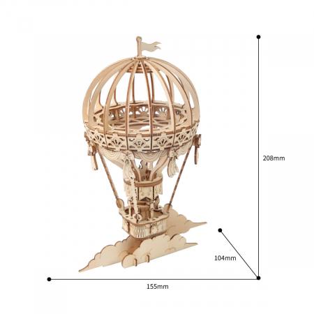 Puzzle 3D Balon, Lemn, 140 piese3