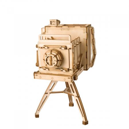 Puzzle 3D Camera Vintage, Lemn, 140 piese0