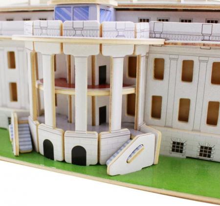 Puzzle 3D Casa Alba, Lemn, 73 piese [1]