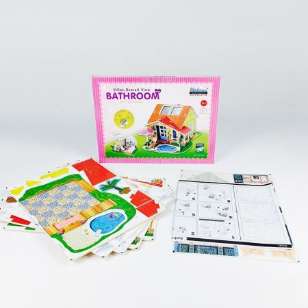 Puzzle 3D, Casuta DIY, Baie, 81 de piese [6]