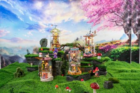 Puzzle 3D, Casuta DIY, Lumea misterioasa - Casuta cu flori6
