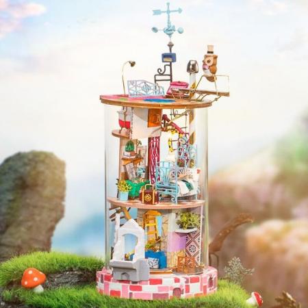 Puzzle 3D, Casuta DIY, Lumea misterioasa - Casuta cu flori1