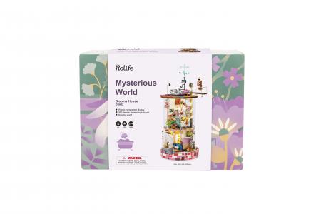 Puzzle 3D, Casuta DIY, Lumea misterioasa - Casuta cu flori7