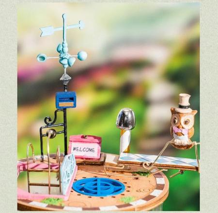 Puzzle 3D, Casuta DIY, Lumea misterioasa - Casuta cu flori3