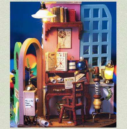 Puzzle 3D, Casuta DIY, Lumea misterioasa - Vecinul misterios [4]