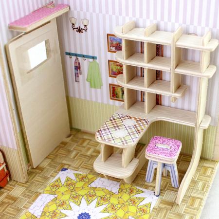 Puzzle 3D, Casuta DIY, Sufragerie, 82 de piese [10]