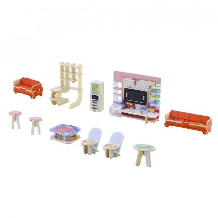 Puzzle 3D, Casuta DIY, Sufragerie, 82 de piese [7]