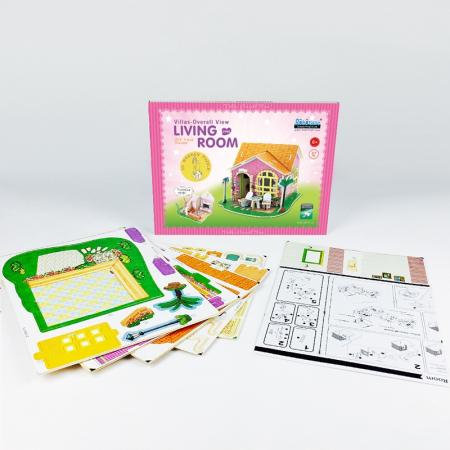 Puzzle 3D, Casuta DIY, Sufragerie, 82 de piese [9]