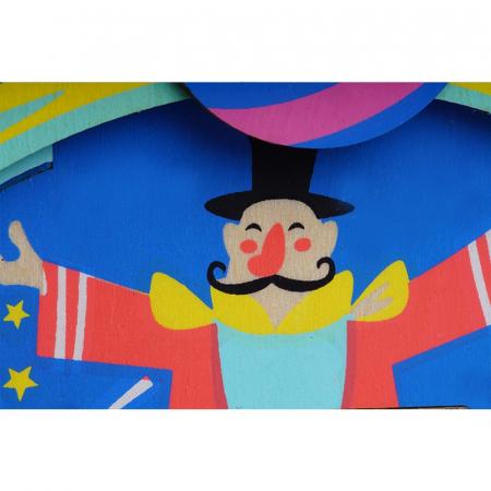 Puzzle 3D Cutie Muzicala, Parc de distractii, Lemn, 92 de piese5