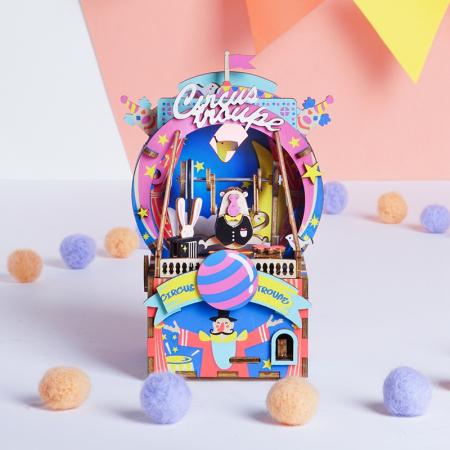 Puzzle 3D Cutie Muzicala, Parc de distractii, Lemn, 92 de piese1