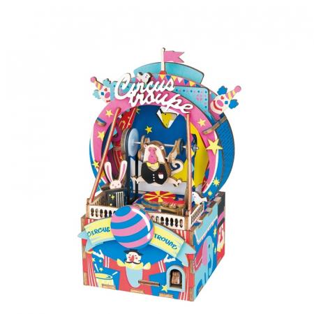 Puzzle 3D Cutie Muzicala, Parc de distractii, Lemn, 92 de piese0