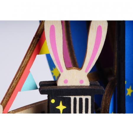 Puzzle 3D Cutie Muzicala, Parc de distractii, Lemn, 92 de piese4