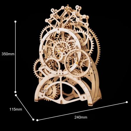 Puzzle 3D Ceas cu pendul, Lemn, 170 piese2