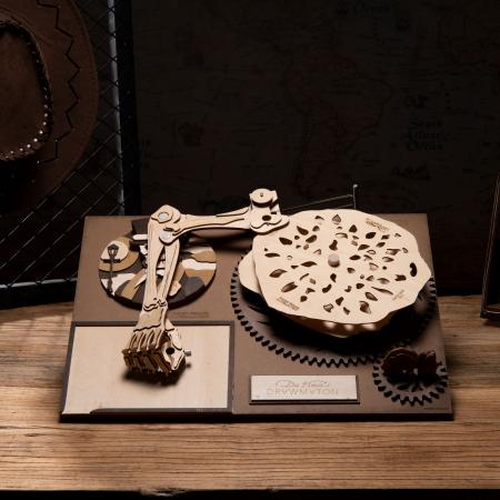 Puzzle 3D Mecanic Drawmaton, The Gambler, Lemn, 122 piese1