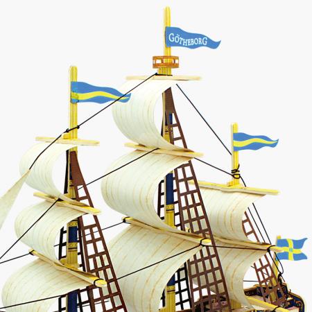 Puzzle 3D Corabie Gothenburg, Lemn, 53 piese1