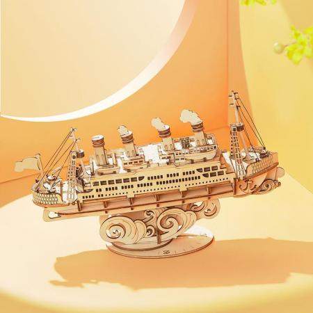 Puzzle 3D Cruise Ship, Lemn, 145 piese [3]