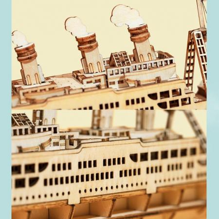 Puzzle 3D Cruise Ship, Lemn, 145 piese [2]