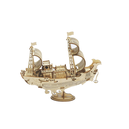 Puzzle 3D Japanese Diplomatic Ship, Lemn, 91 piese1