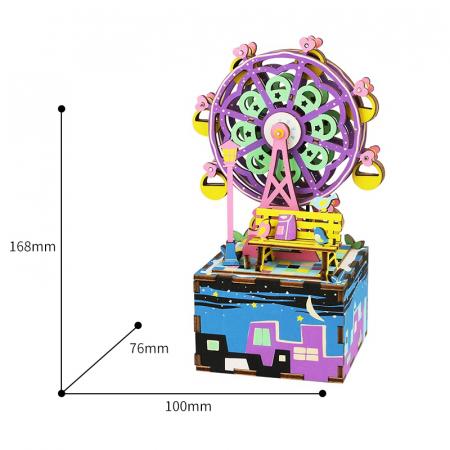 Puzzle 3D Cutie Muzicala, Ferris Wheel, Lemn, 69 de piese4