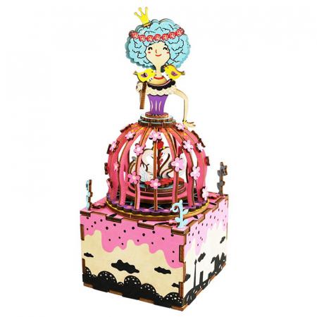 Puzzle 3D Cutie Muzicala, Printesa, Lemn, 118 piese0