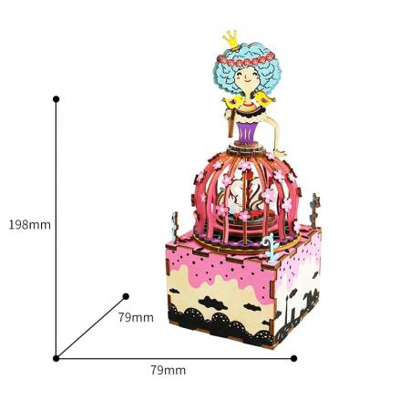Puzzle 3D Cutie Muzicala, Printesa, Lemn, 118 piese4