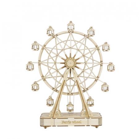 Puzzle 3D Cutie Muzicala, Ferris Wheel XL, Lemn, 232 de piese0