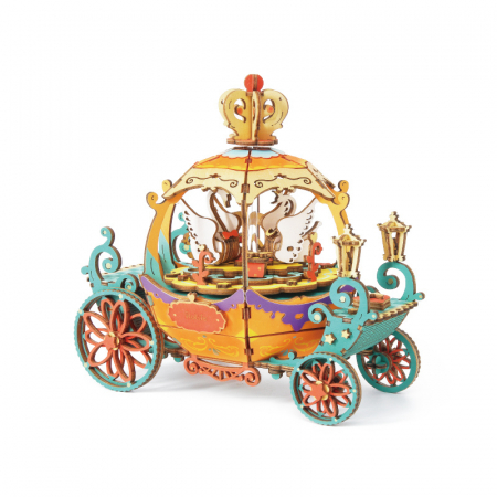 Puzzle 3D Cutie Muzicala, Pumpkin Carriage, Lemn [0]