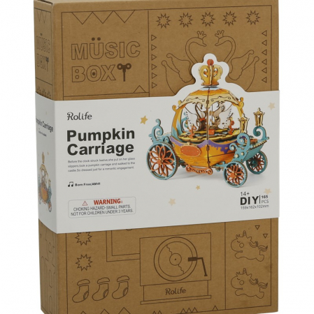 Puzzle 3D Cutie Muzicala, Pumpkin Carriage, Lemn [4]