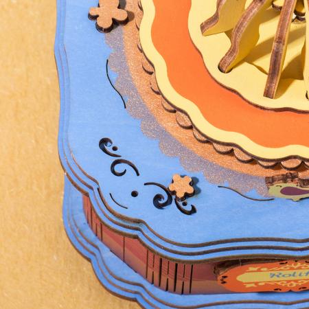Puzzle 3D Cutie Muzicala, Gramofon vintage, Lemn, 109 piese2