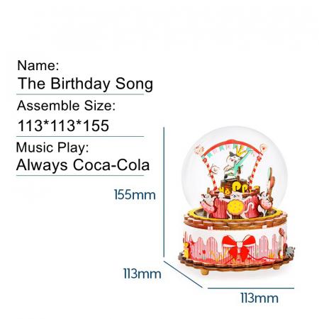 Puzzle 3D Cutie Muzicala, La multi ani, Lemn [2]