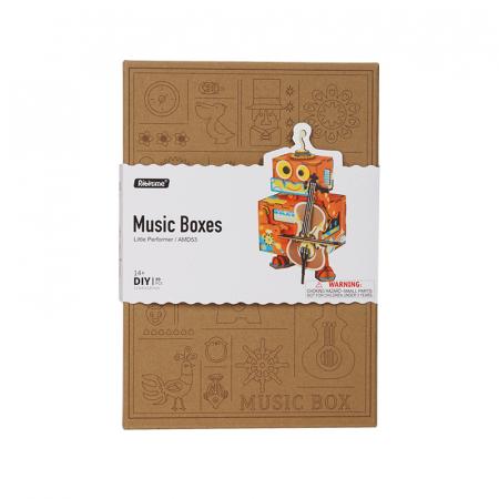 Puzzle 3D Cutie Muzicala, Micul artist Lemn, 89 de piese4