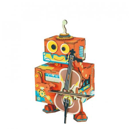 Puzzle 3D Cutie Muzicala, Micul artist Lemn, 89 de piese0