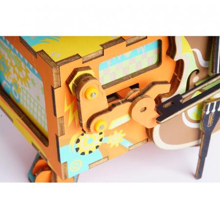 Puzzle 3D Cutie Muzicala, Micul artist Lemn, 89 de piese2