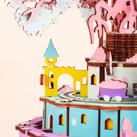 Puzzle 3D Cutie Muzicala, Oras zburator, Lemn, 192  piese4