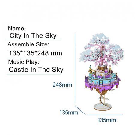 Puzzle 3D Cutie Muzicala, Oras zburator, Lemn, 192  piese7