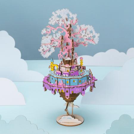 Puzzle 3D Cutie Muzicala, Oras zburator, Lemn, 192  piese1