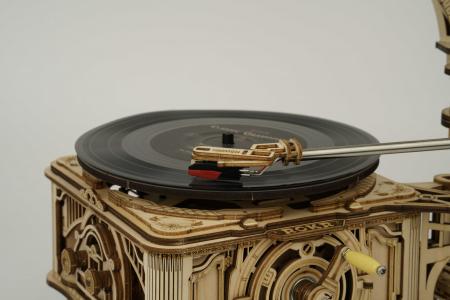 Puzzle 3D, cutiuta muzicala, Gramofon clasic cu manivela [5]