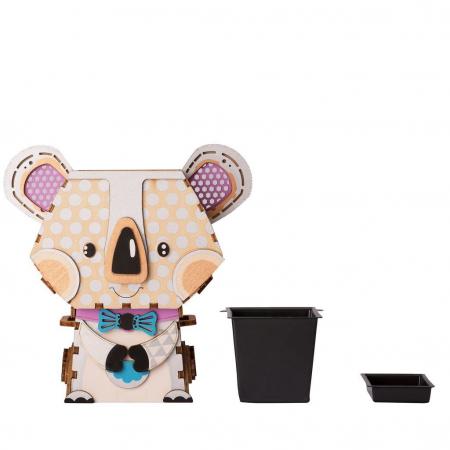 Puzzle 3D din lemn, Ghiveci - koala, 65 piese [4]