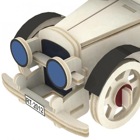 Puzzle 3D din lemn, Masina retro 3, 59 piese [3]