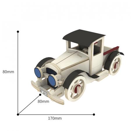 Puzzle 3D din lemn, Masina retro 3, 59 piese [1]